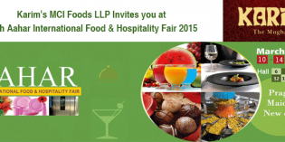 Karim's MCI Foods LLP invites you at 30th Aahar International Food & Hospitality Fair 2015