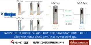 Distribute SAWYER And Master Batteries with Svojas Plast Technologies Pvt Ltd!