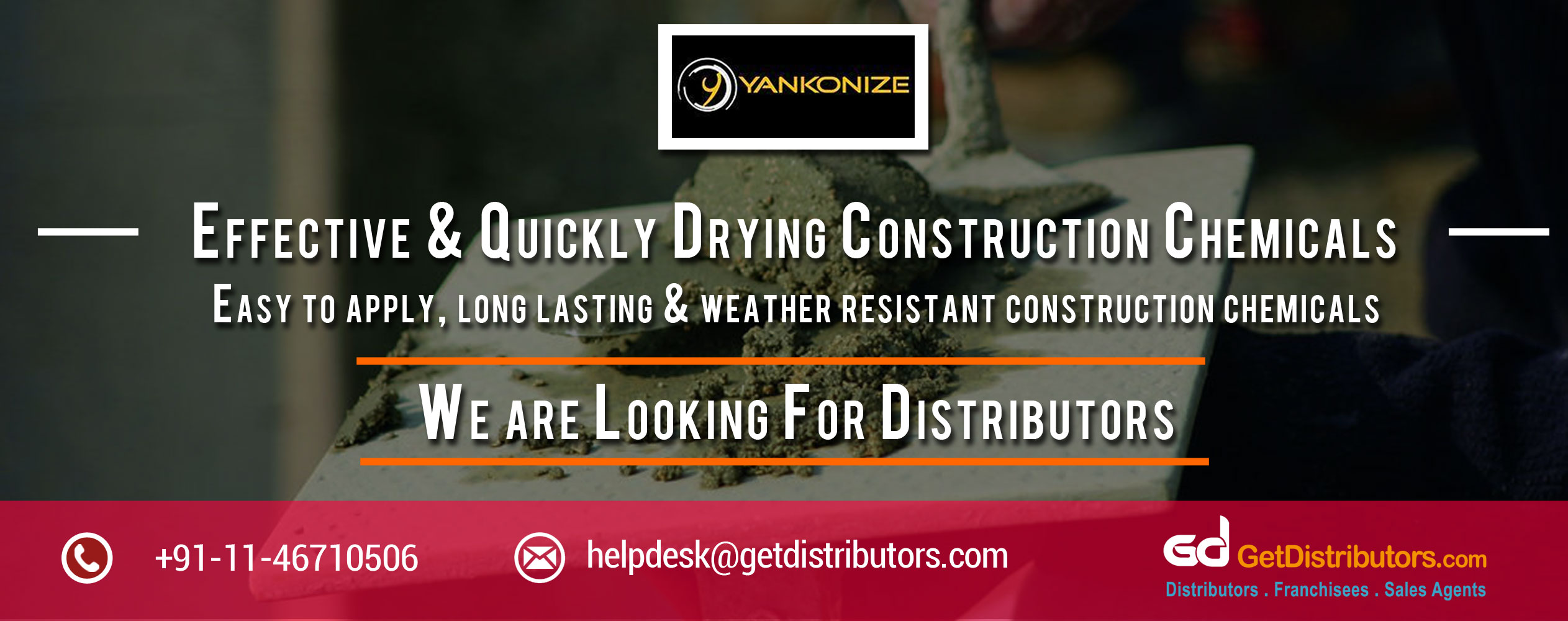 Effective & Quickly Drying Construction Chemicals