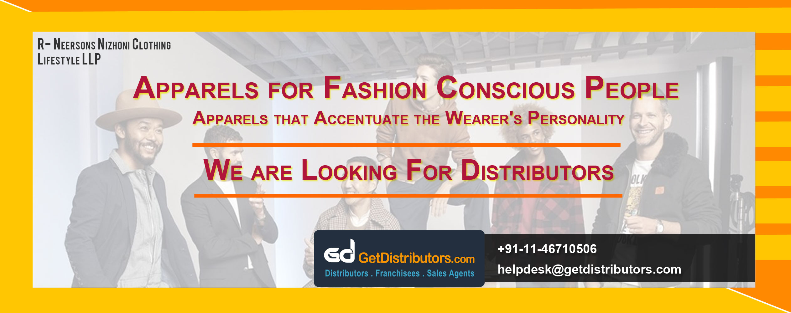 Our EYE catching apparels Looking for Distributor