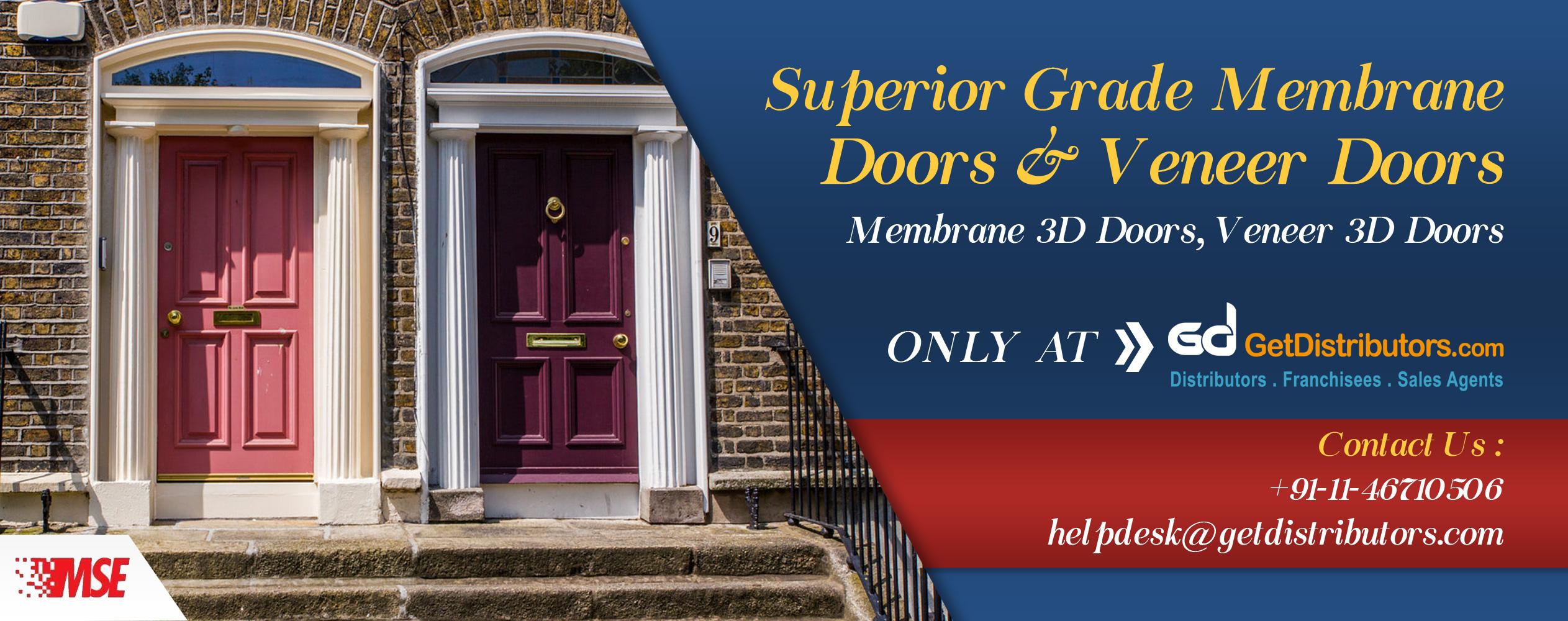 Superior Grade Membrane Doors & Veneer Doors Distributors
