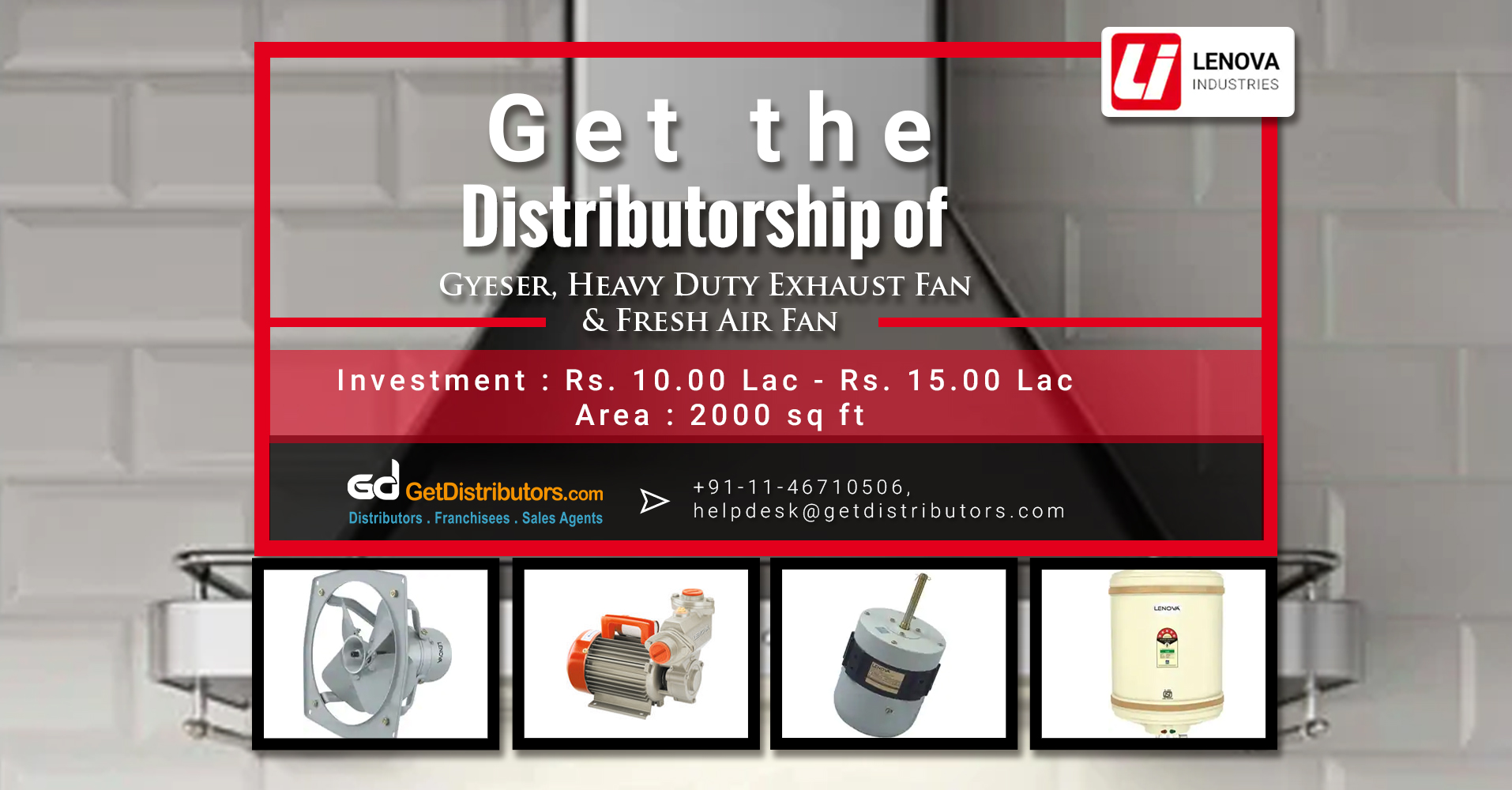 Good Quality And Trusted Electrical Appliances Distributorship By Lenova Industries