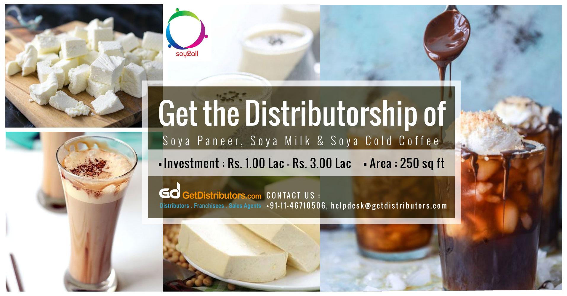Healthy Soya Paneer & Soya Milk Distributorship By Soy2all Food Industries LLP