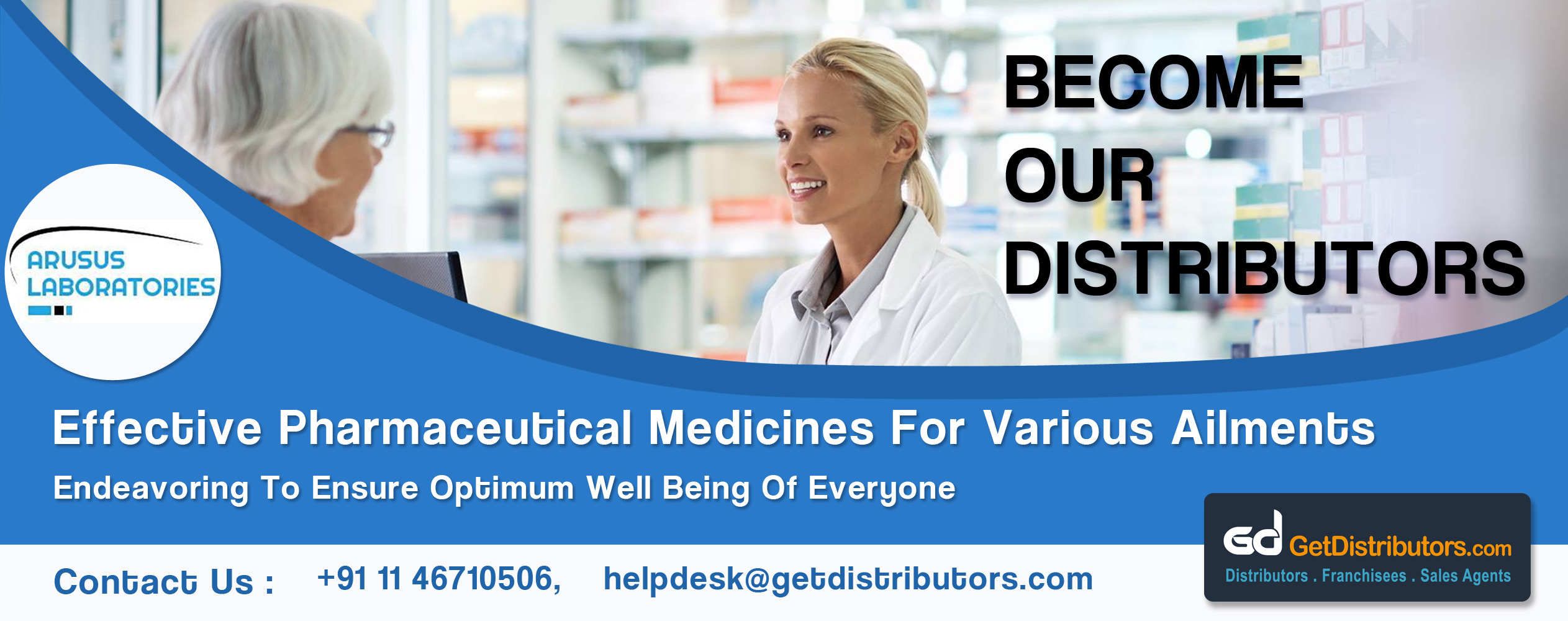 Arusus Laboratories requires distributors for pharmaceutical medicines