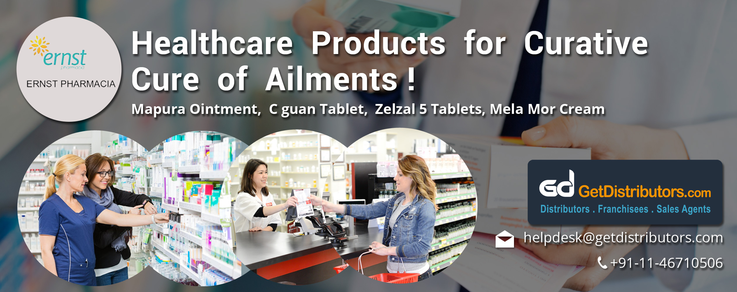 Healthcare Products for Curative Cure of Ailments