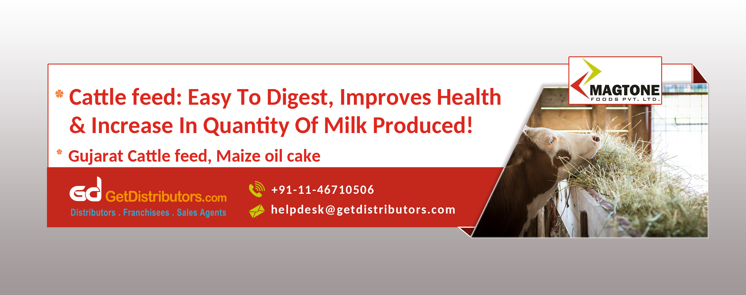Gujarat Cattle Feed: Easy to Digest, Improves Health & Increase in Quantity of Milk Produced