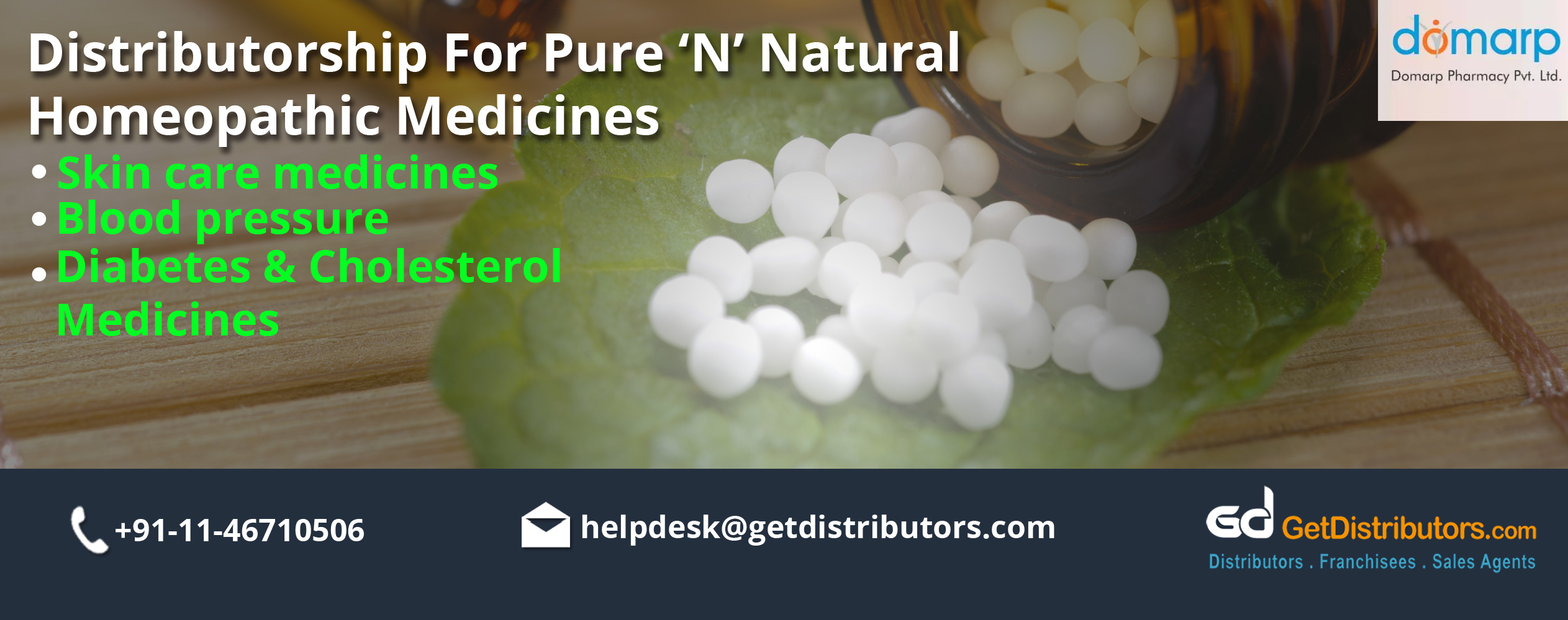 Looking Distributors of Pure & Natural Homeopathic Medicines