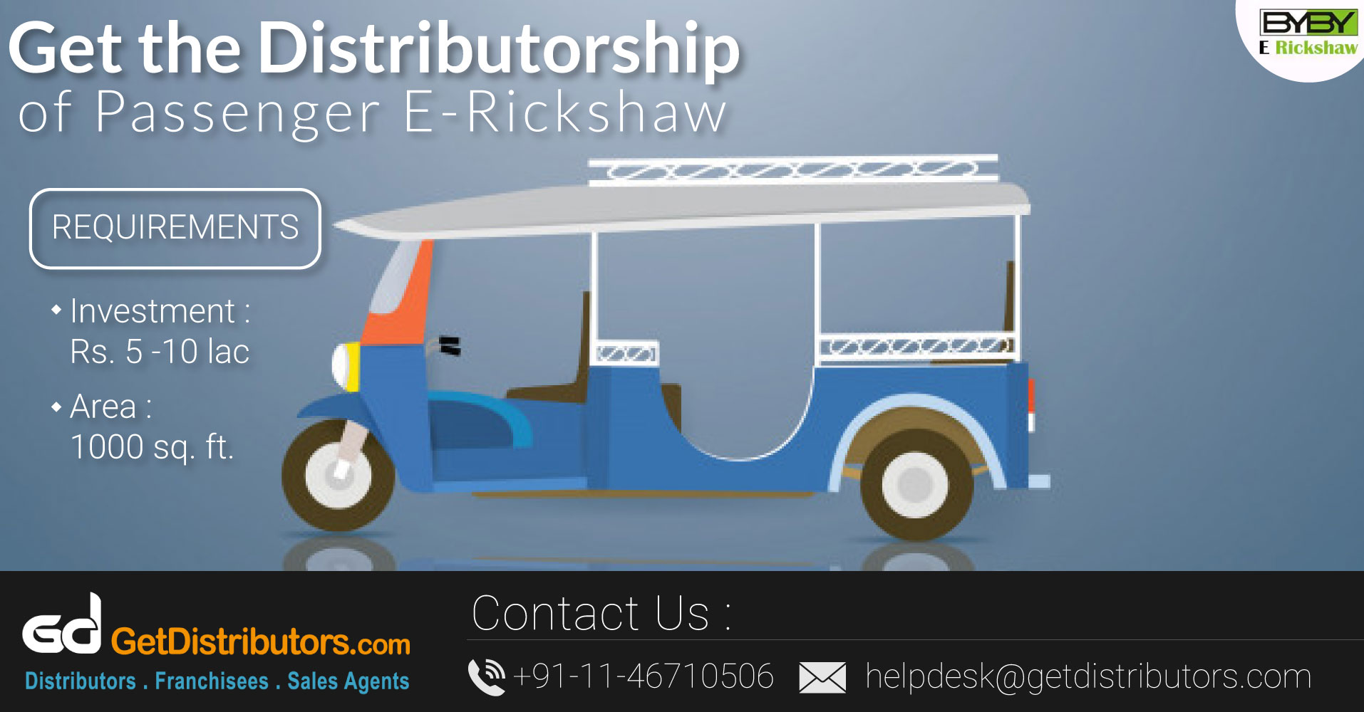 Robust Quality Electric Rickshaws At Cost Effective Prices