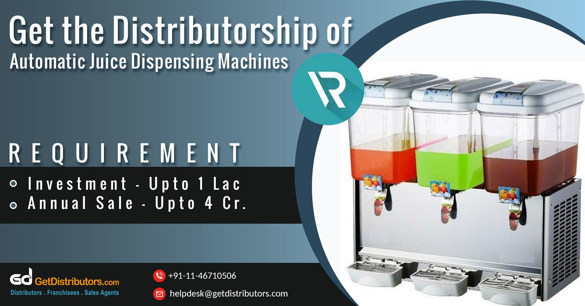 Power Efficient And Durable Automatic Juice Dispensers