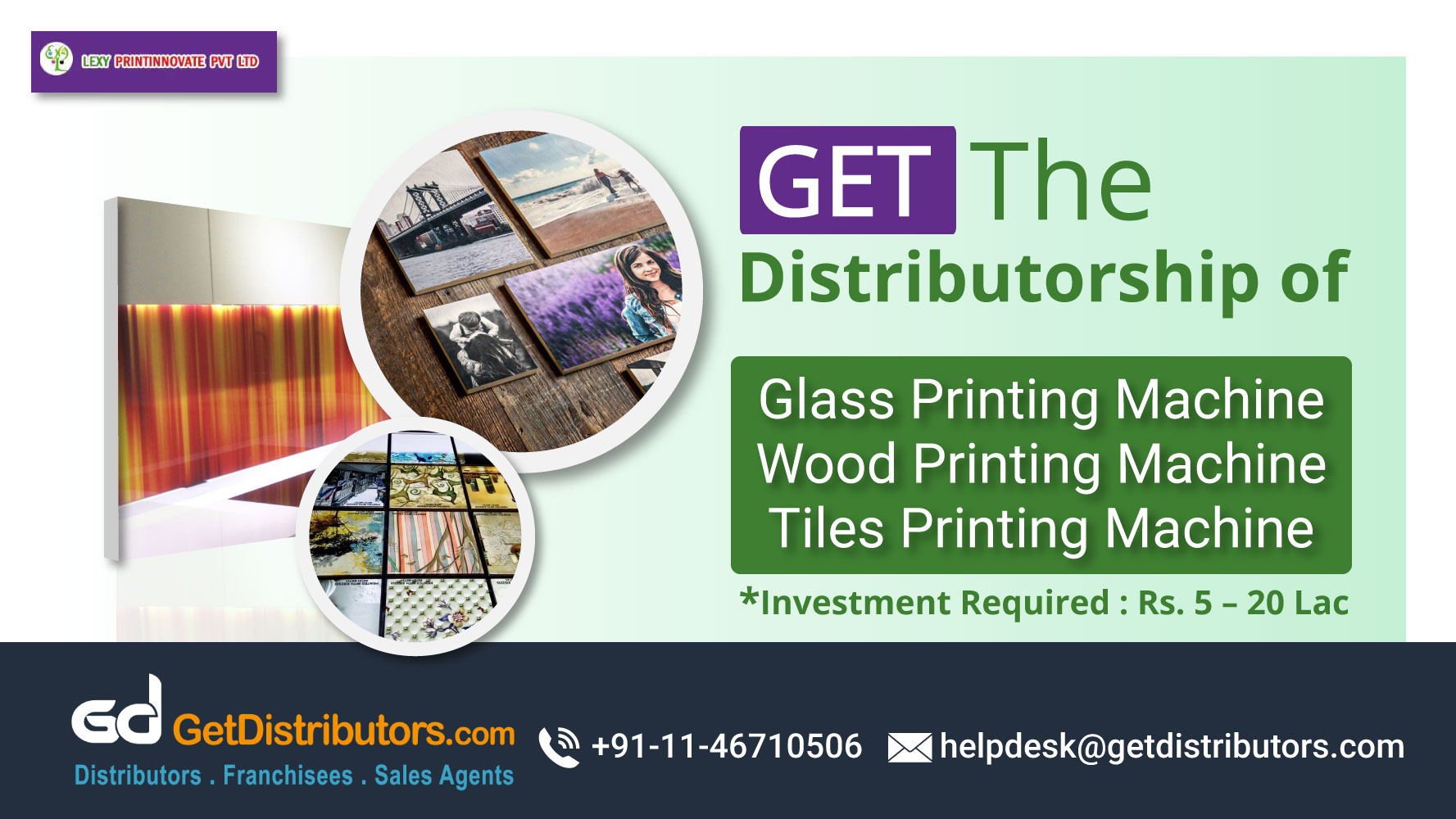 Tiles, Glass And Wood Printing Machine At Affordable Rates