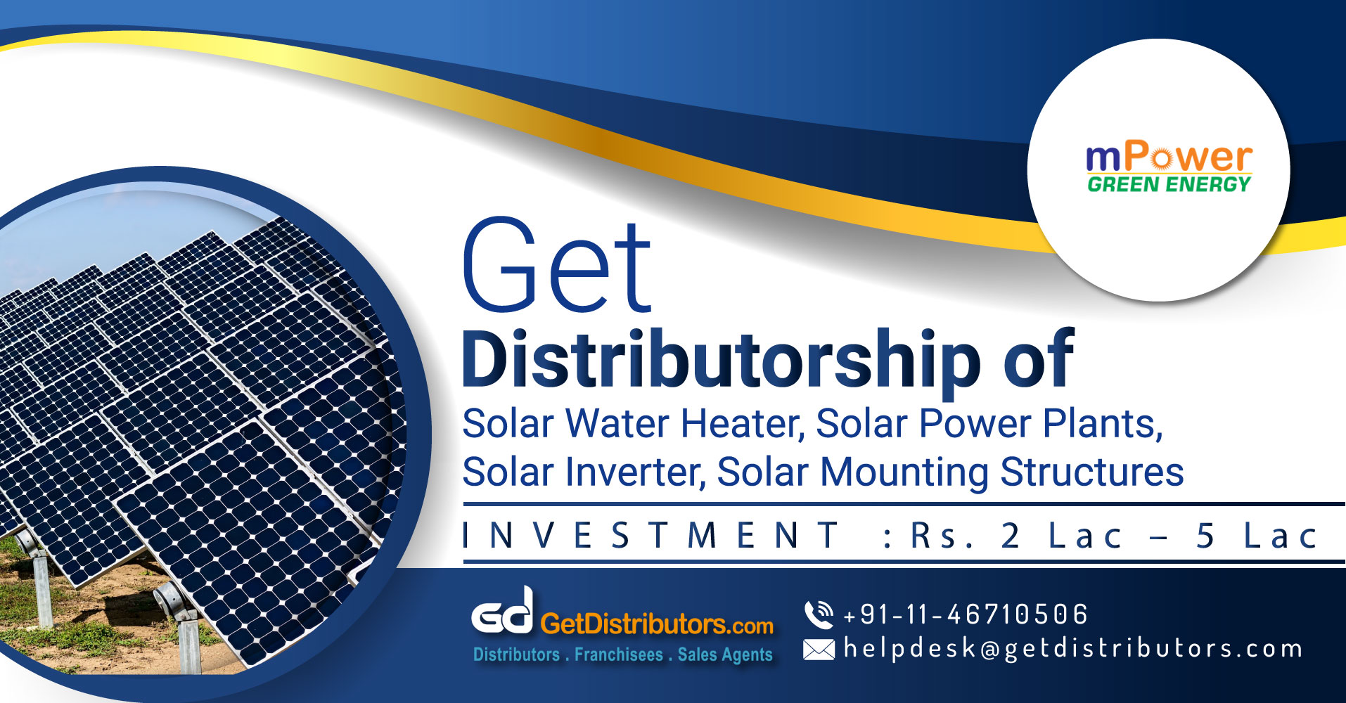 Low Cost And Low Maintenance Solar Products Distributorship
