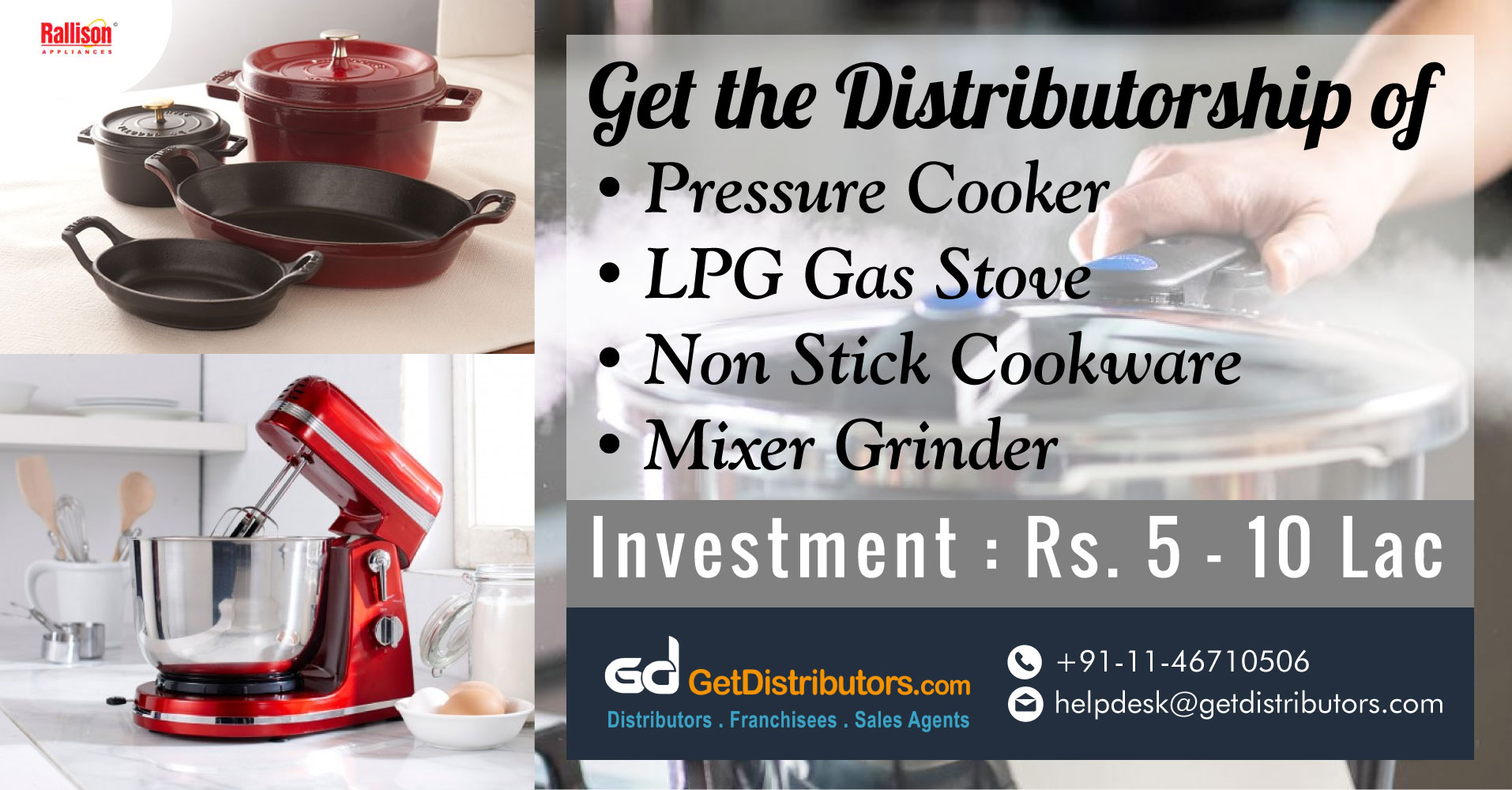 How To Get Distributorship Of Kitchen Appliances?