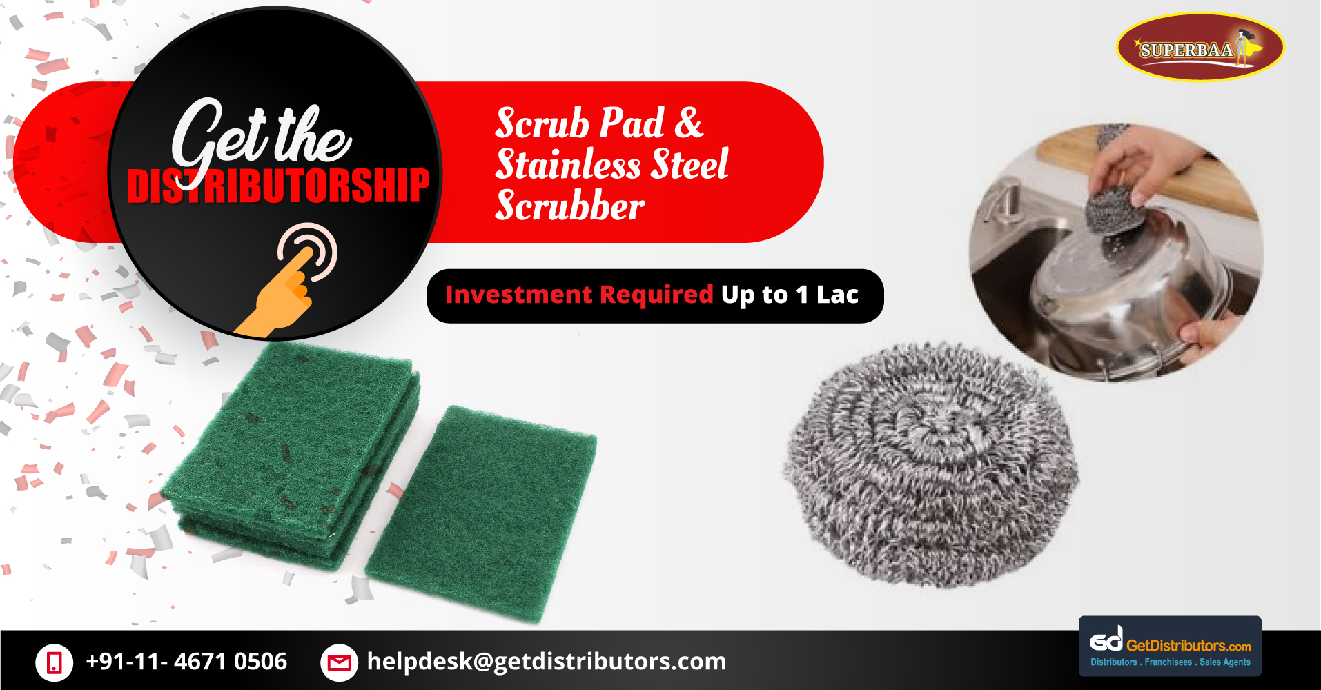 Heavy Duty Scrubbers & Scrub Pads Distributorship At Affordable Prices