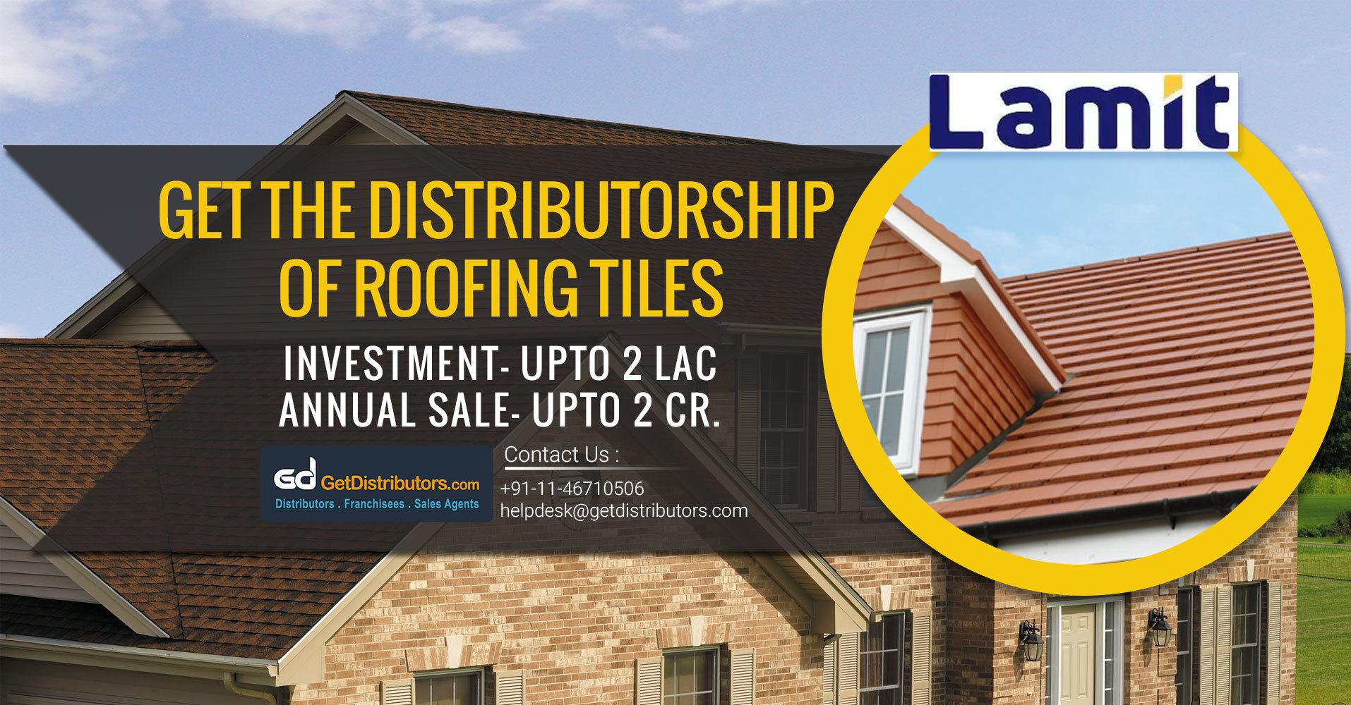 Get Distributorship of Roofing Tiles & Cladding At Affordable Prices