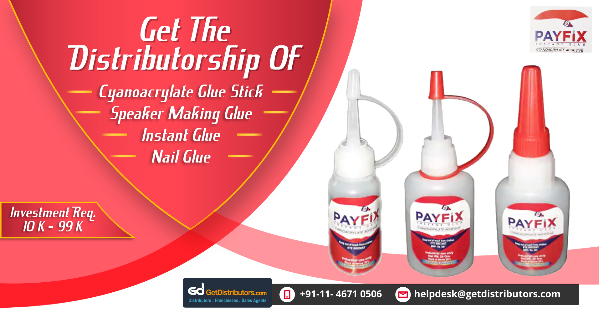 Get Distributorship Of Quick Drying And Ultra Strong Glue For Any Industrial Requirement