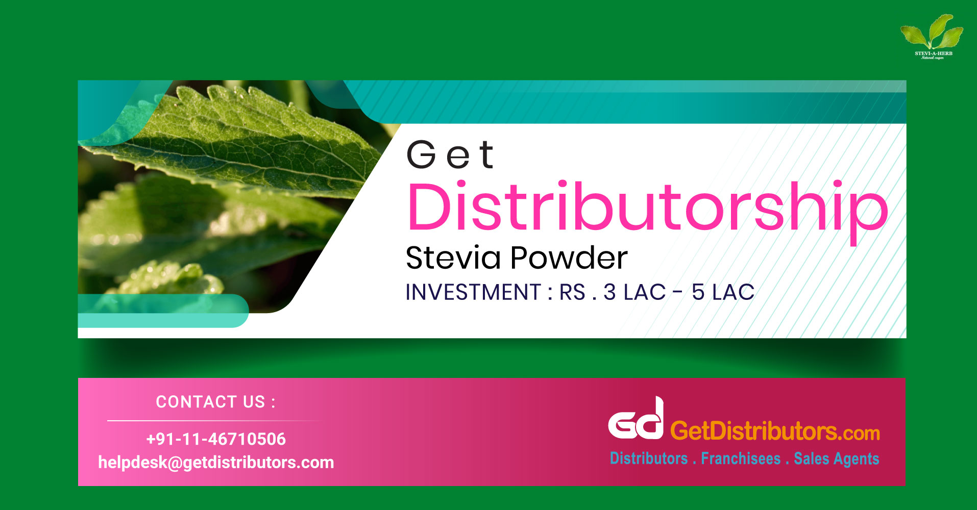 Genuine Stevia Powder Distributorship At Pocket-Friendly Prices