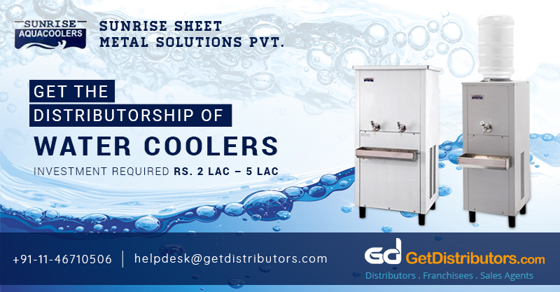 Distributorship Of Energy Efficient Water Coolers At Attractive Prices