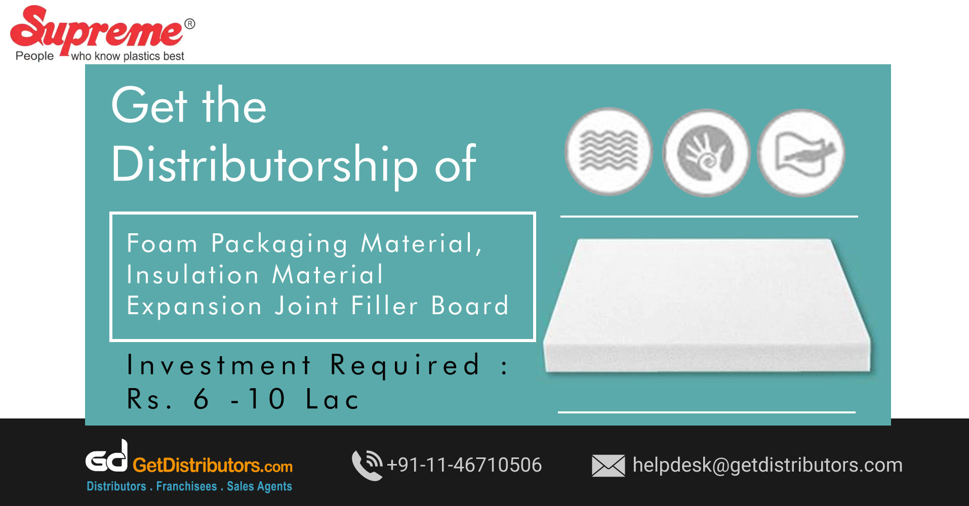 Durable Plastic Products Distributorship At Cost Effective Prices