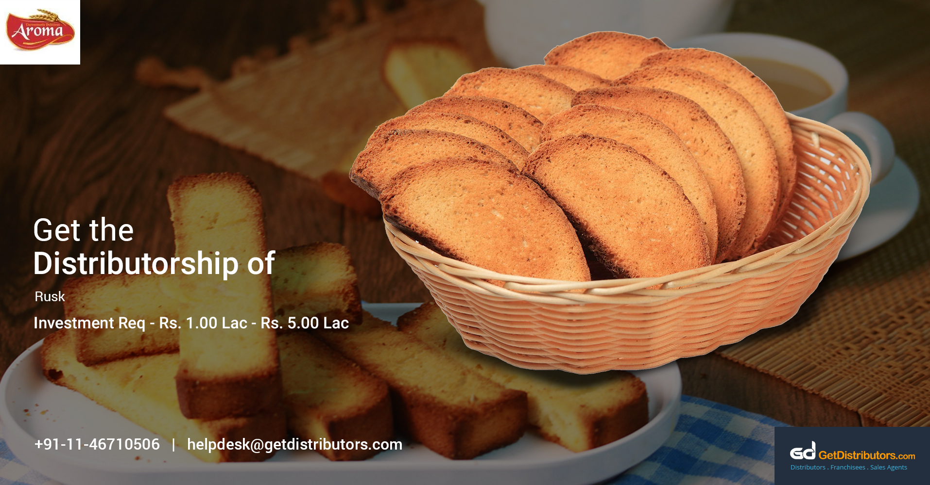 Flavored And Delicious Rusks Distributorship At Reasonable Prices