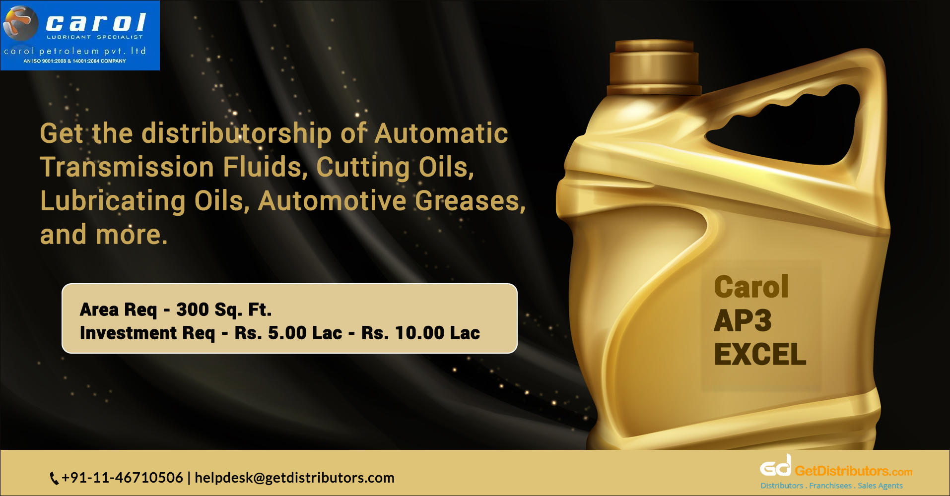 High-Quality And Cost-Effective Oil & Lubricants: Get Distributorship