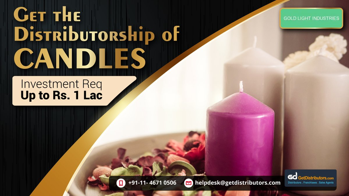 Distributorship Of Decorative Candles For Every Occasion