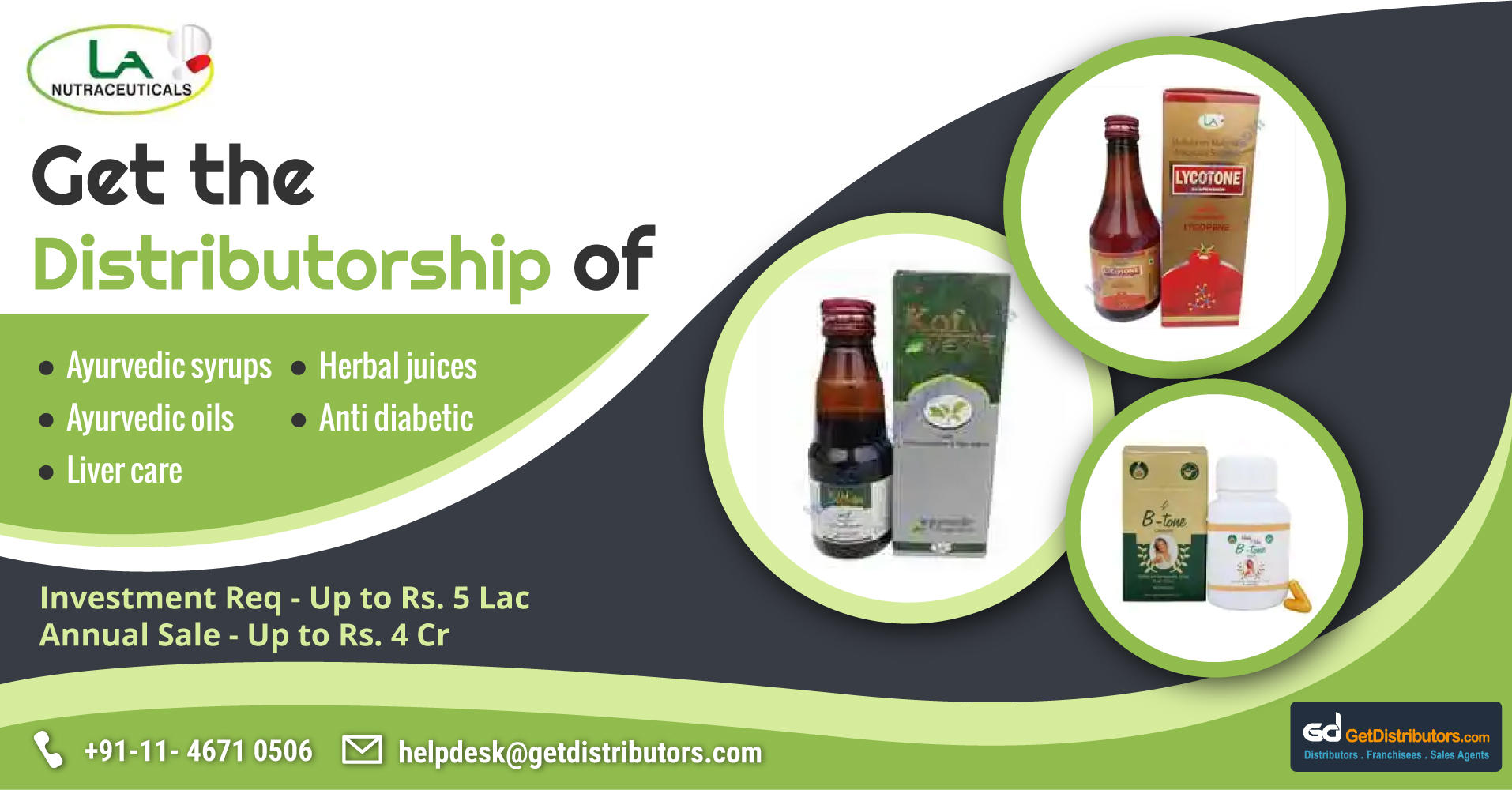 Herbal & Ayurvedic Products Distributorship At Affordable Prices