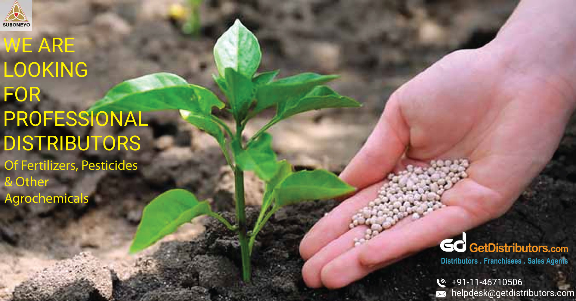 Distributorship Of High-Quality Fertilizers, Pesticides And Other Agrochemical Products