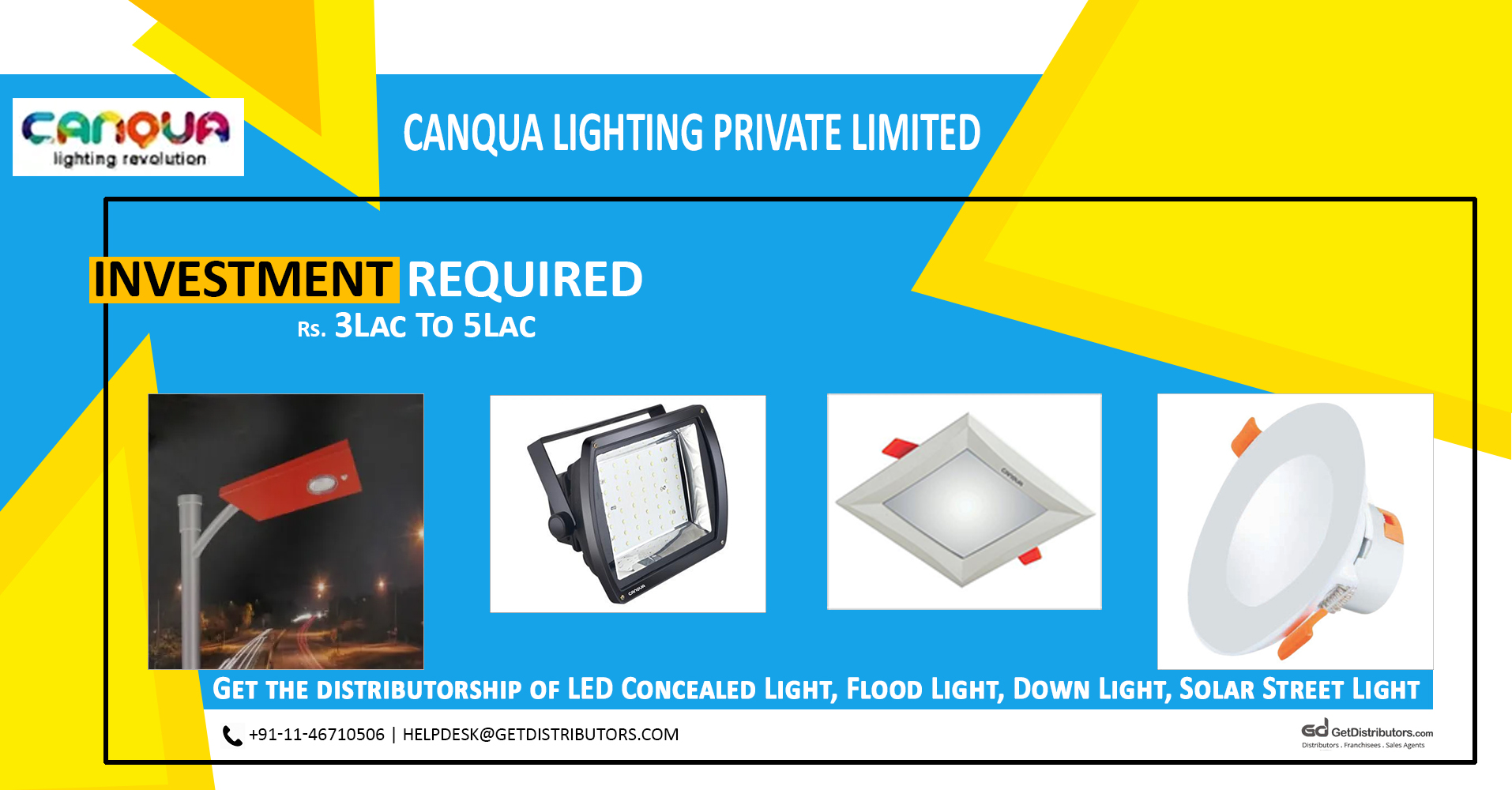 Offering Distributorship Of Best Quality LED Lights & Solar Panels