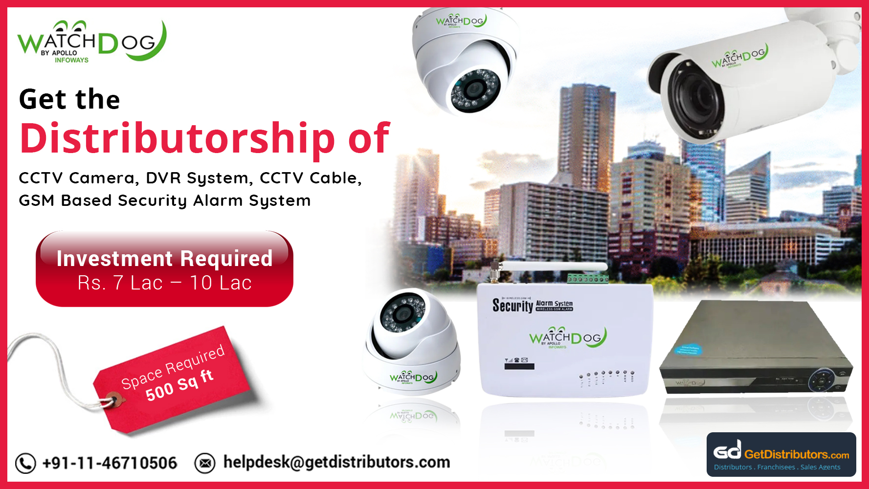 Distributorship Of CCTV Cameras With HD Resolution At Reasonable Prices