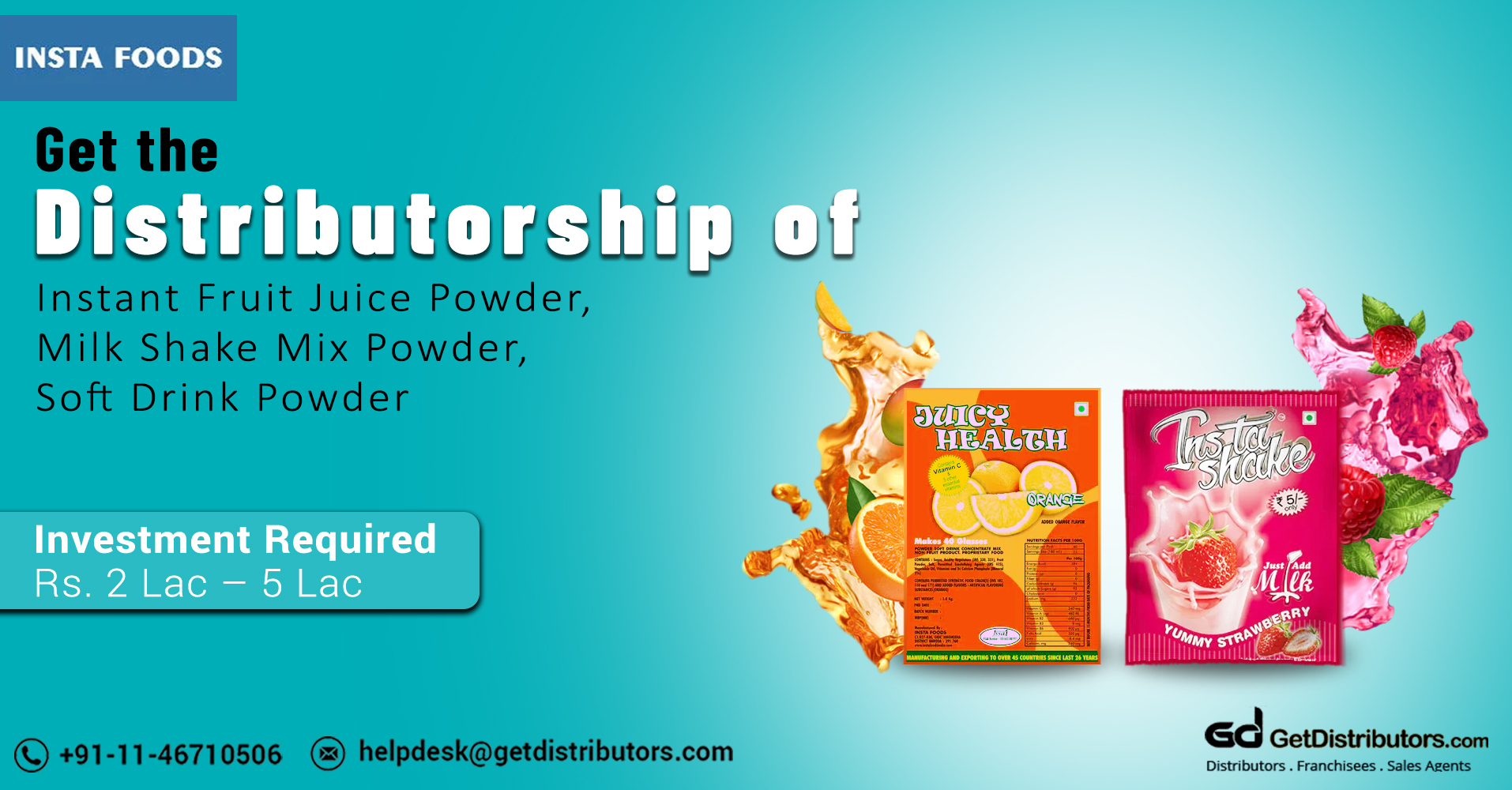 Distributorship Of Refreshing Soft Drink Powders At Affordable Rates