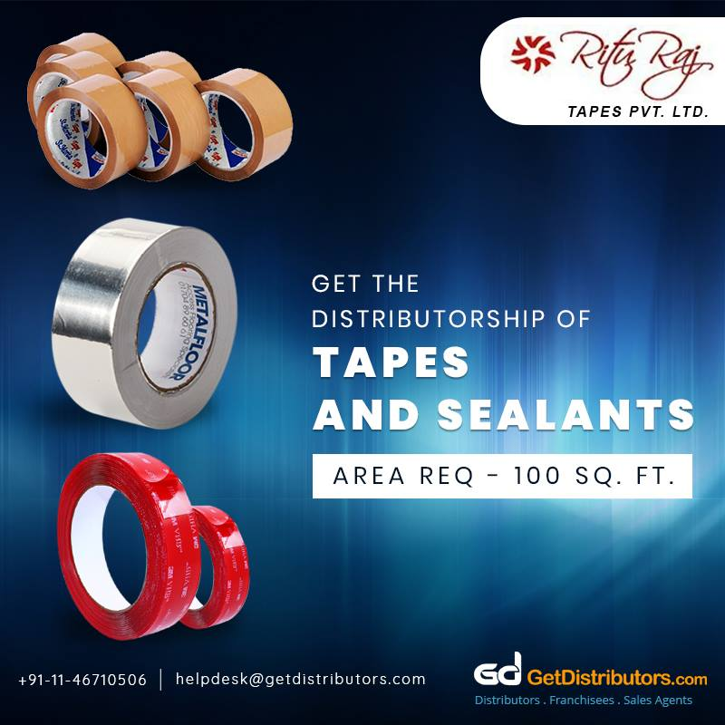Get Distributorship Of Strong Adhesive Bond Tapes And Sealants For Households And Industries