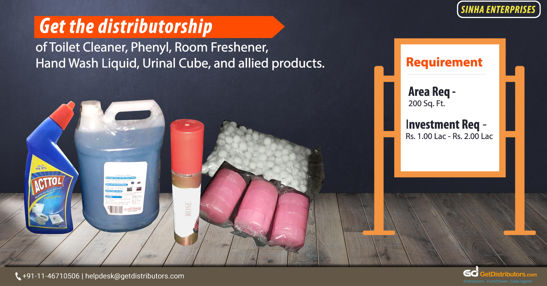 Distributorship Of Bathroom And Toilet Cleaners & Other FMCG Products At Affordable Rates