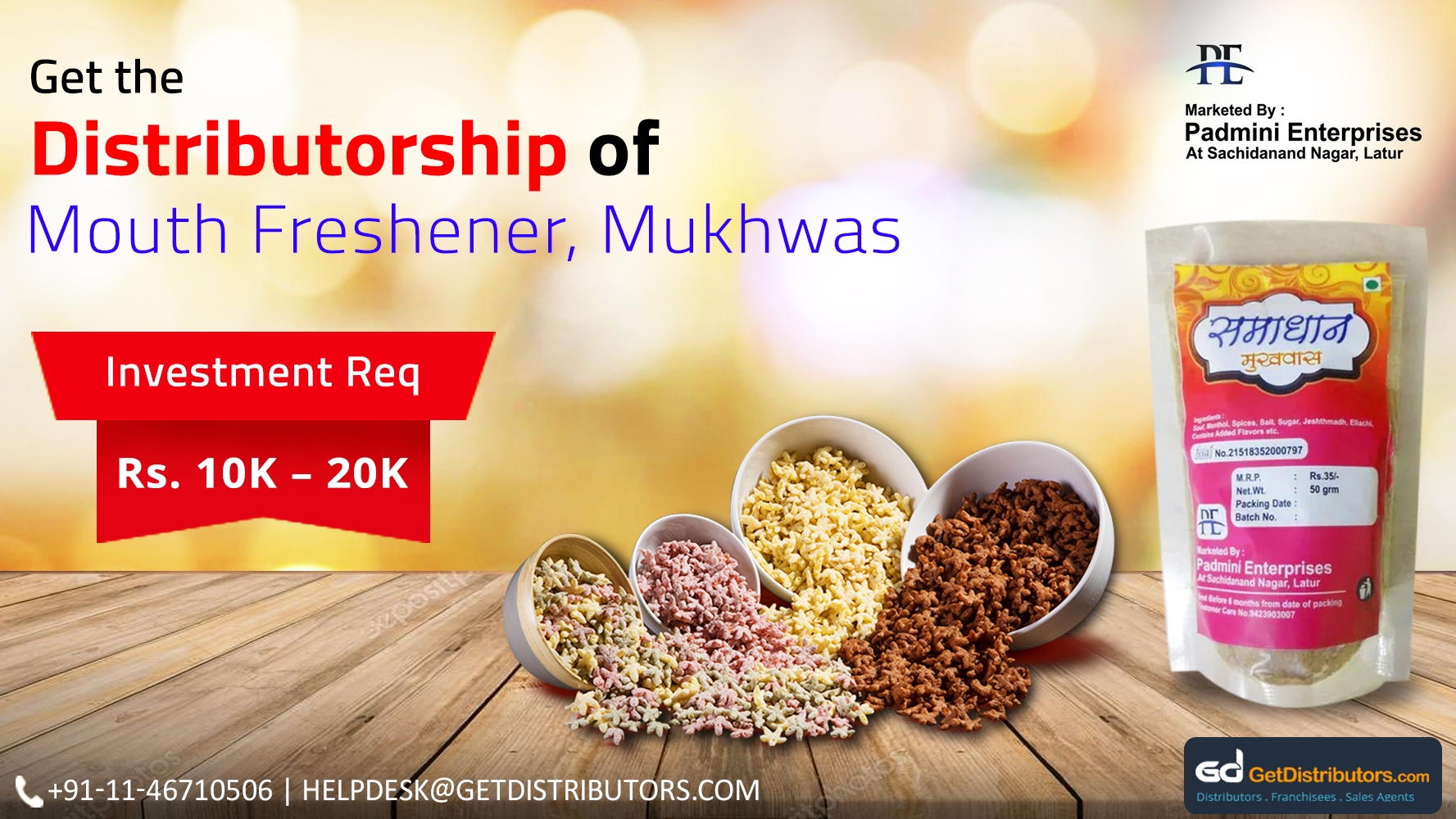 Get The Distributorship Of Refreshing Mouth Fresheners