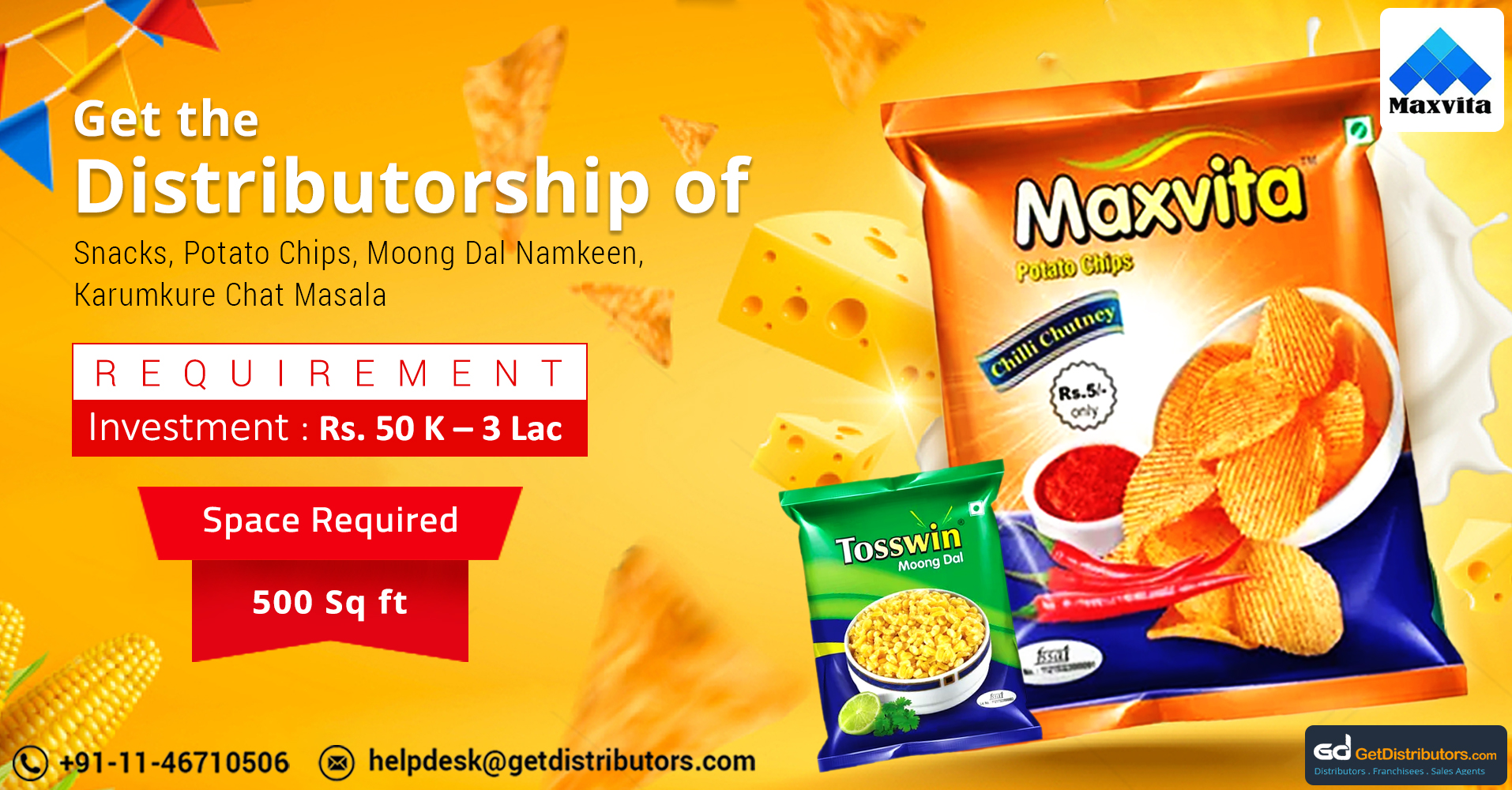 Offering Mouthwatering Snacks Distributorship At Nominal Rates