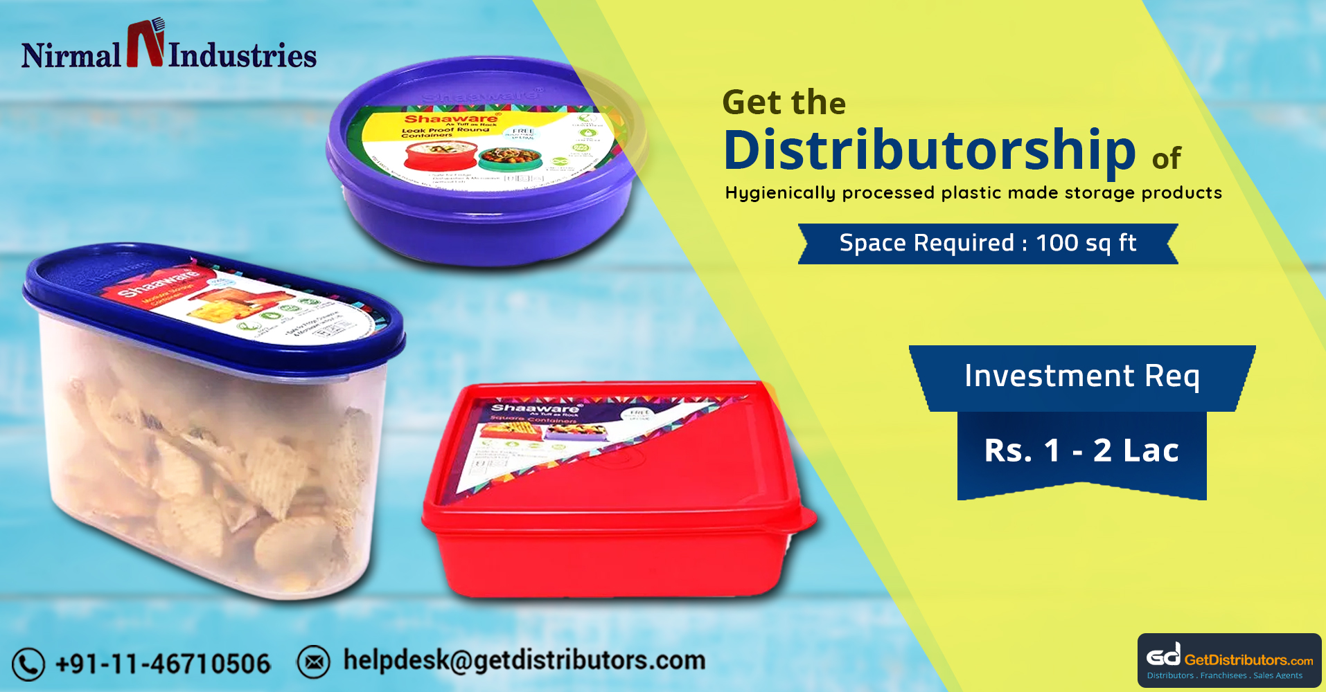 Food Safe Tiffin Boxes And Food Containers Distributorship At Affordable Rates