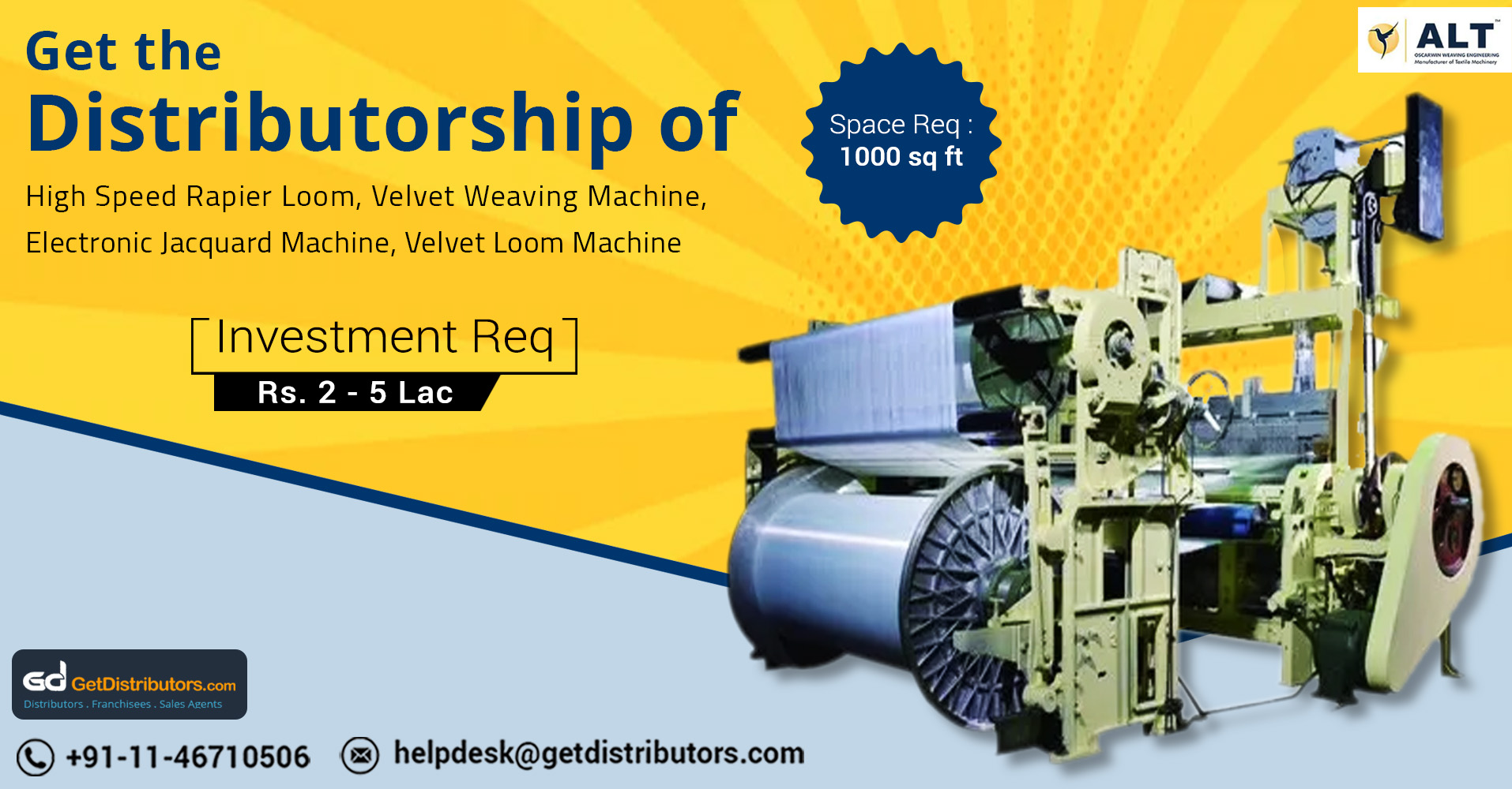 High Performing Weaving Machines Distributorship At Nominal Prices