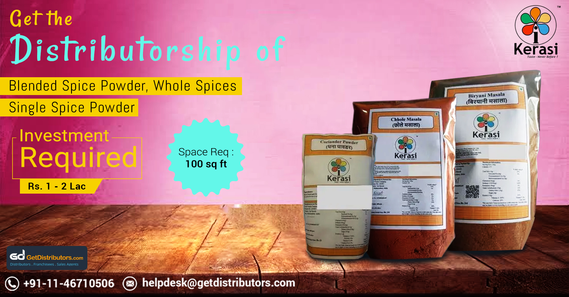 Become Distributor Of High Quality Fragrant Spices