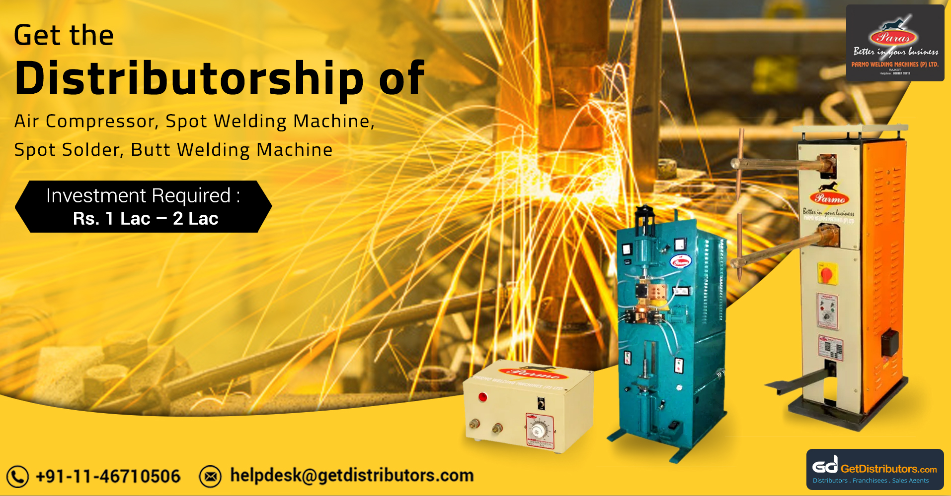 Power Efficient Welding Machinery, Air Compressors And Allied Products