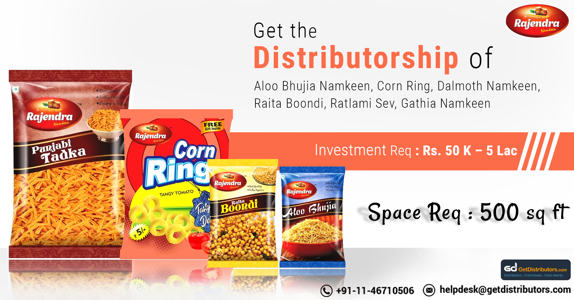 Become A Distributor Of Snacks And Namkeens