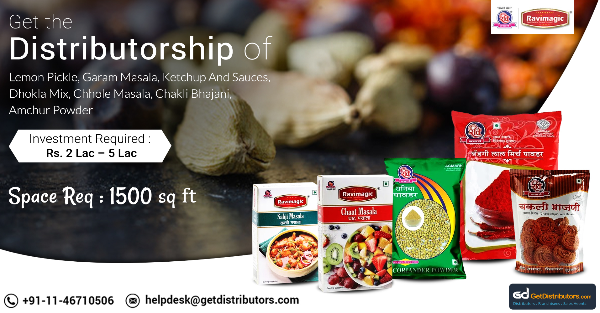 Distributorship Of Mouthwatering Pickles, Snacks And Taste-Enhancing Spices