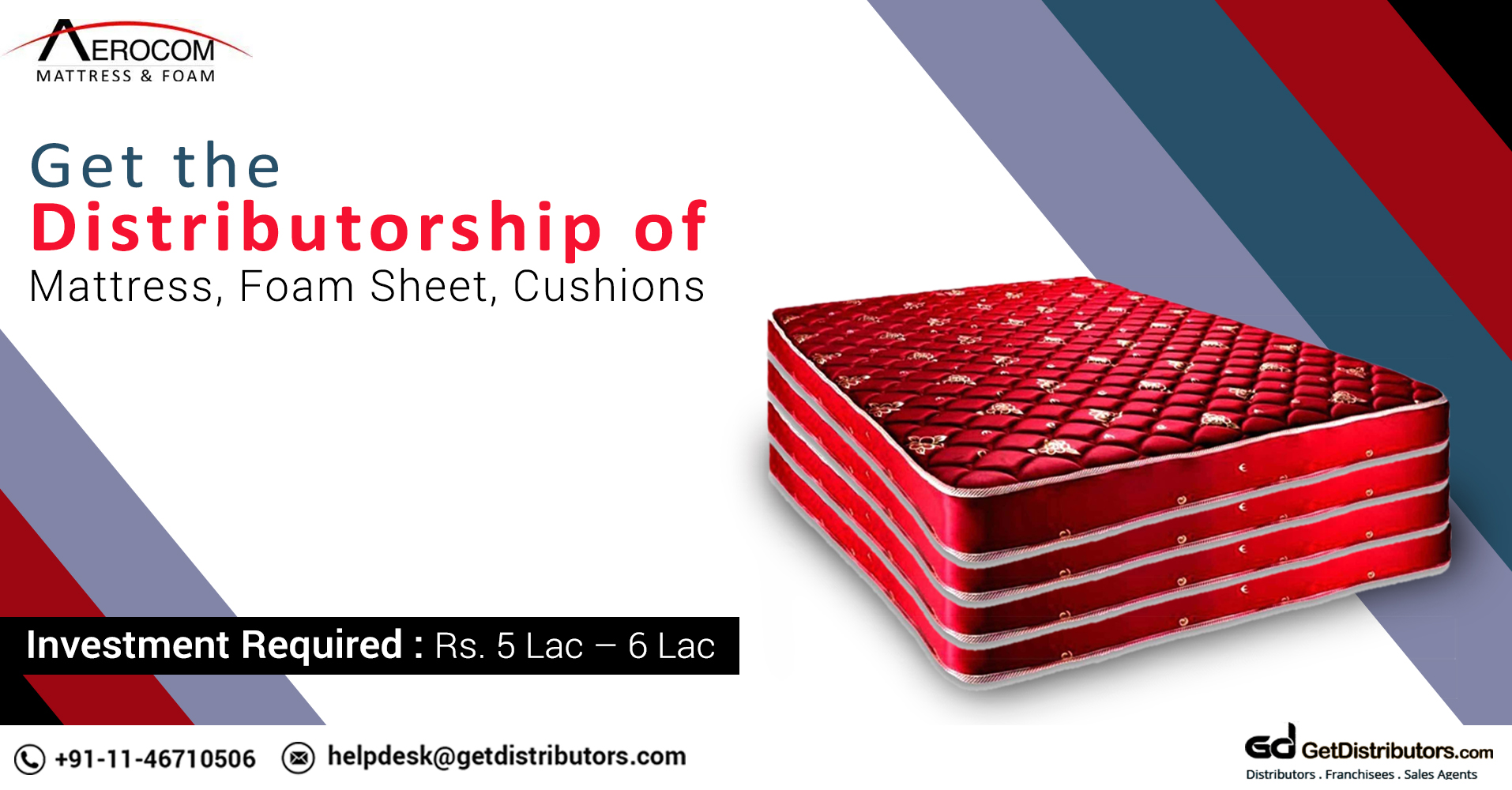 Distributorship Of Mattress, Foam Sheet, Cushions And Lot More At Affordable Prices