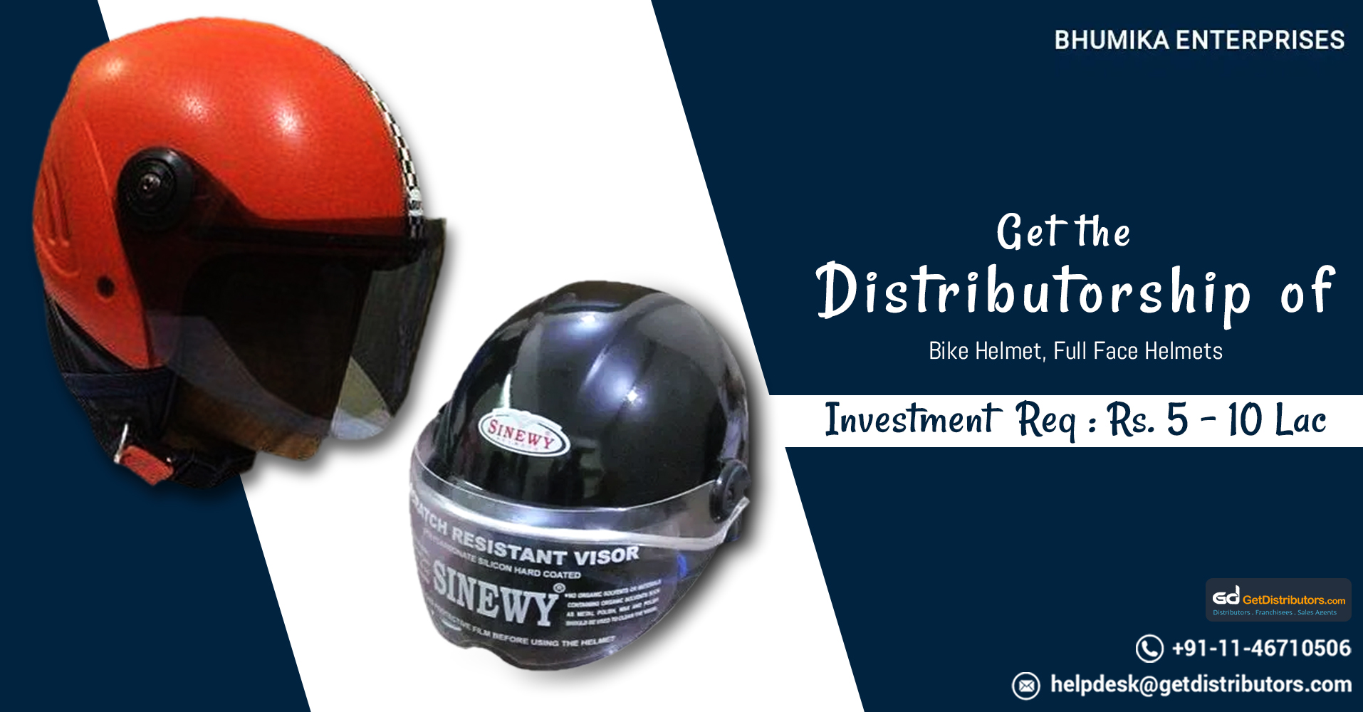Introducing A Premium Grade Range Of Helmets