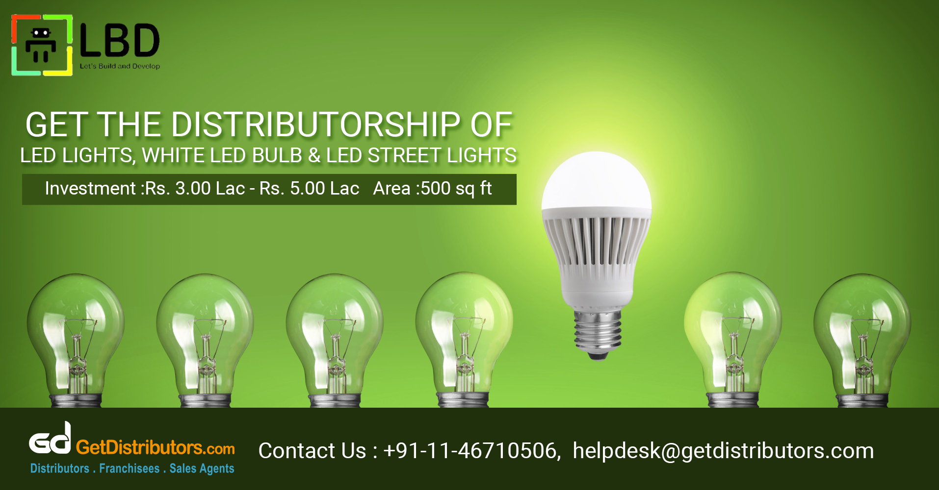 High Grade Outdoor Lighting And LED Products Distributorship