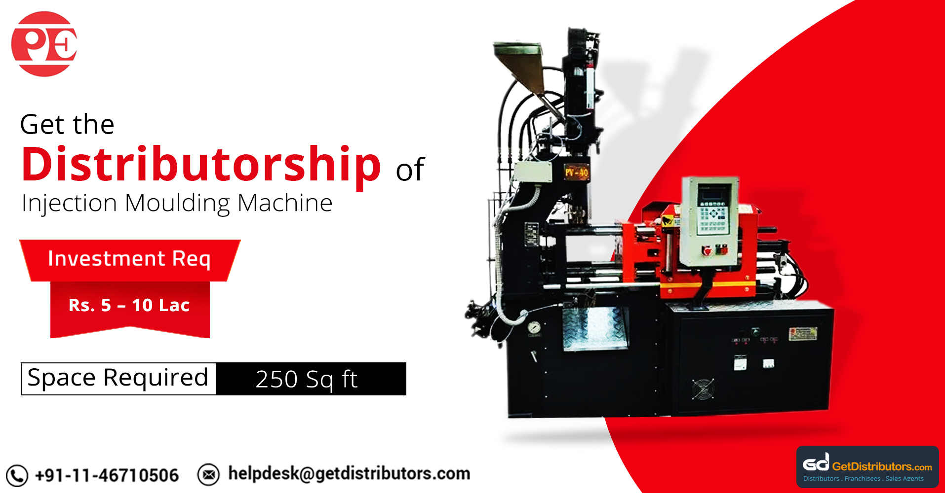 Sturdy, Reliable And High Performing Injection Molding Machine For Distribution