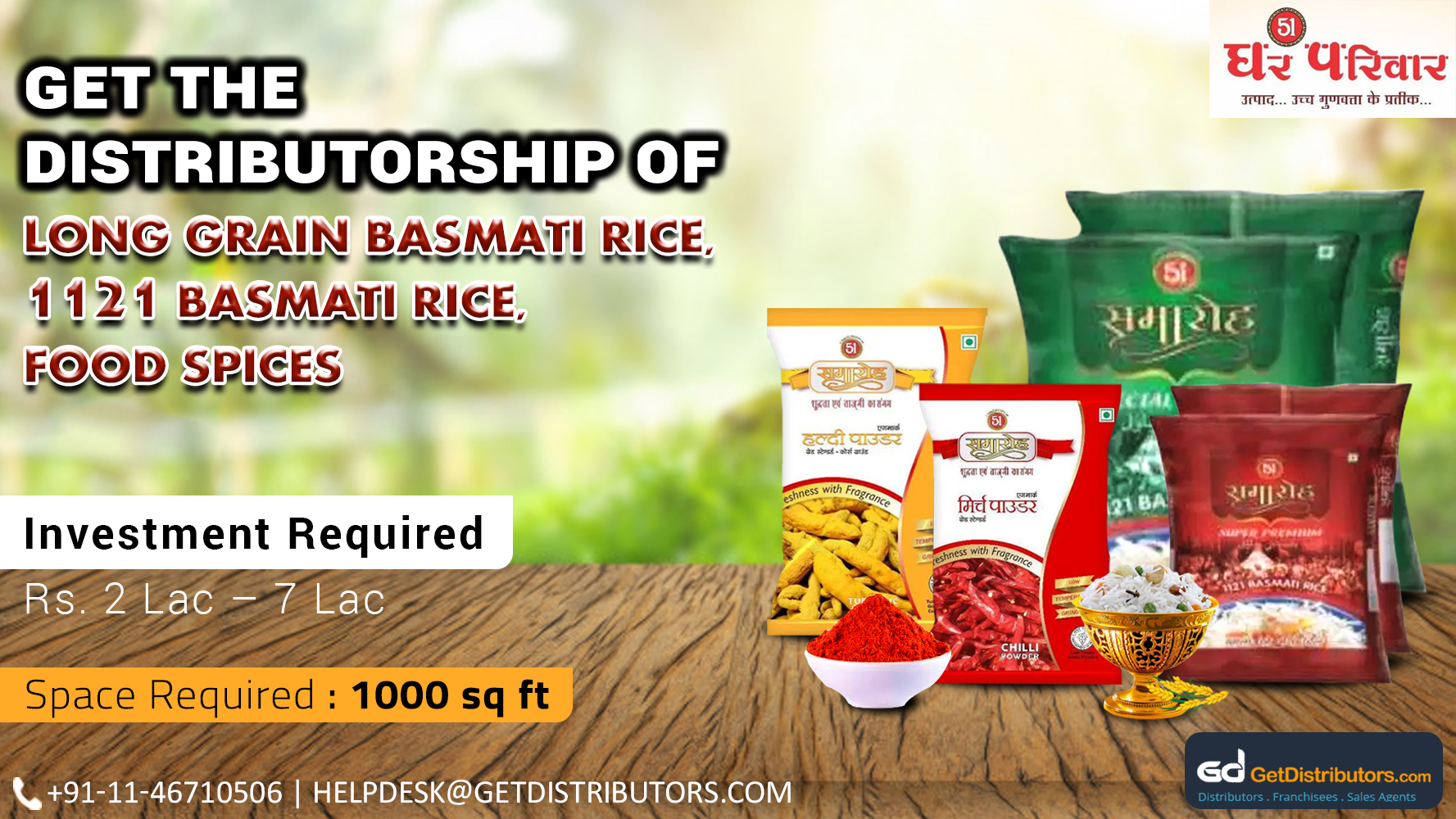 Superior Quality Basmati Rice And Food Spices At Cost-Effective Prices