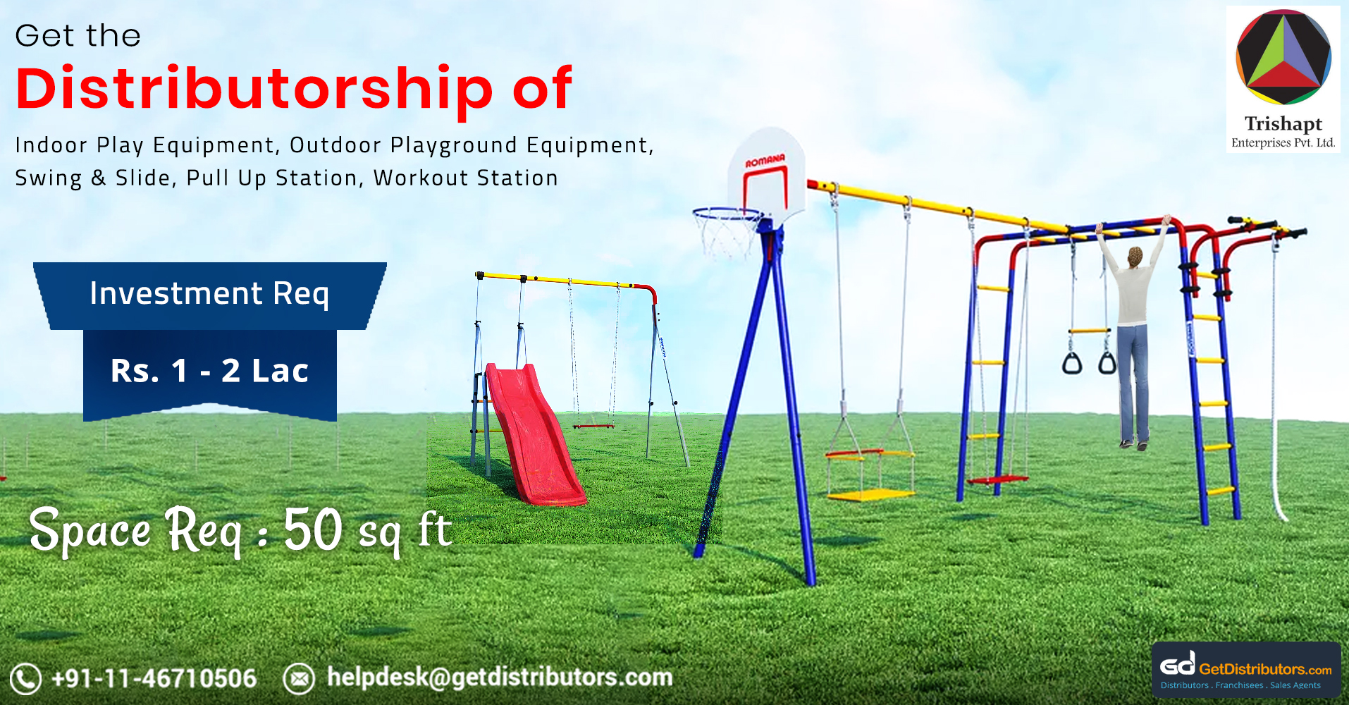 Highly Reliable And Sturdy Playground Equipment For Distribution