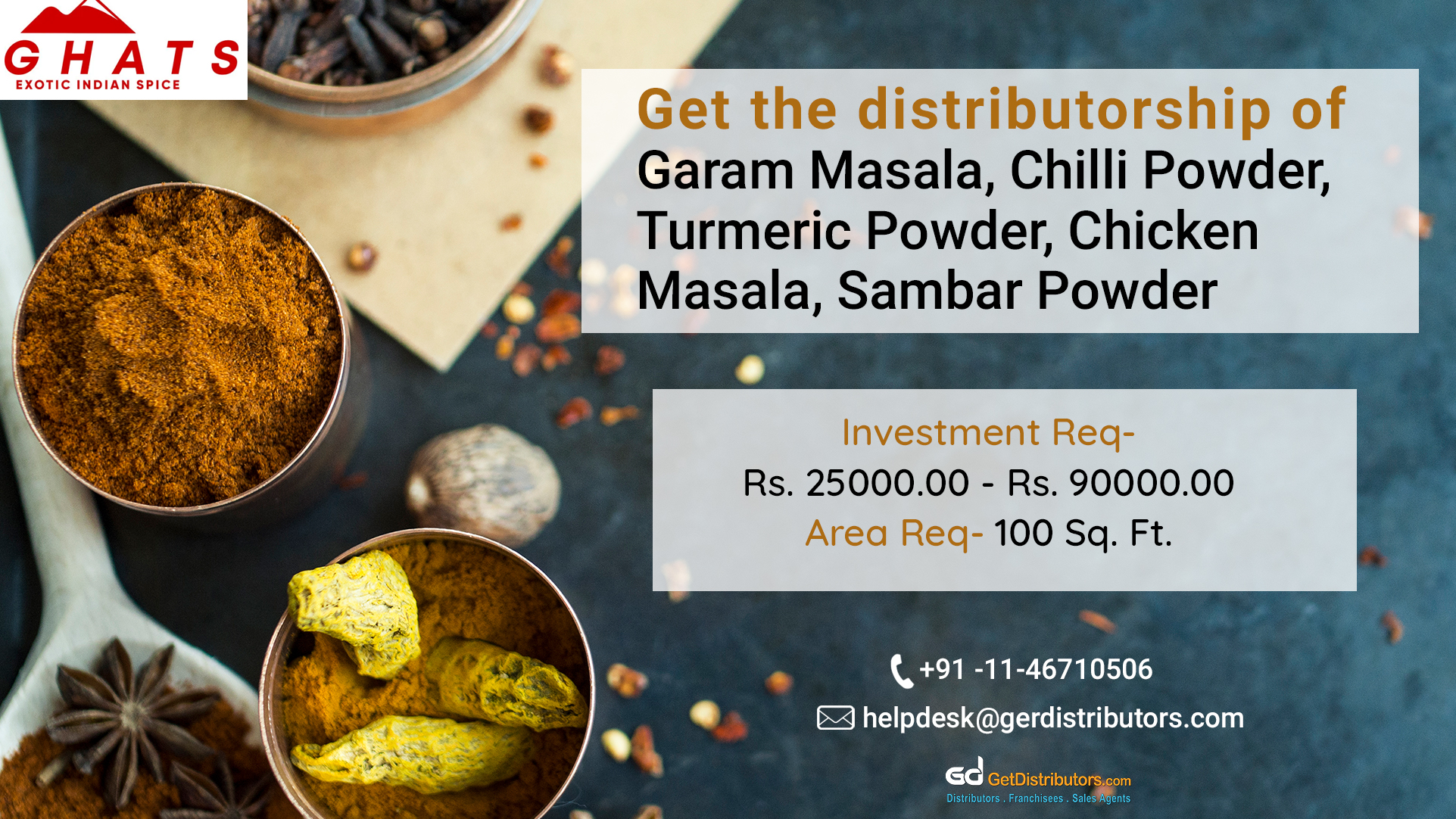 Optimum quality spices for distribution