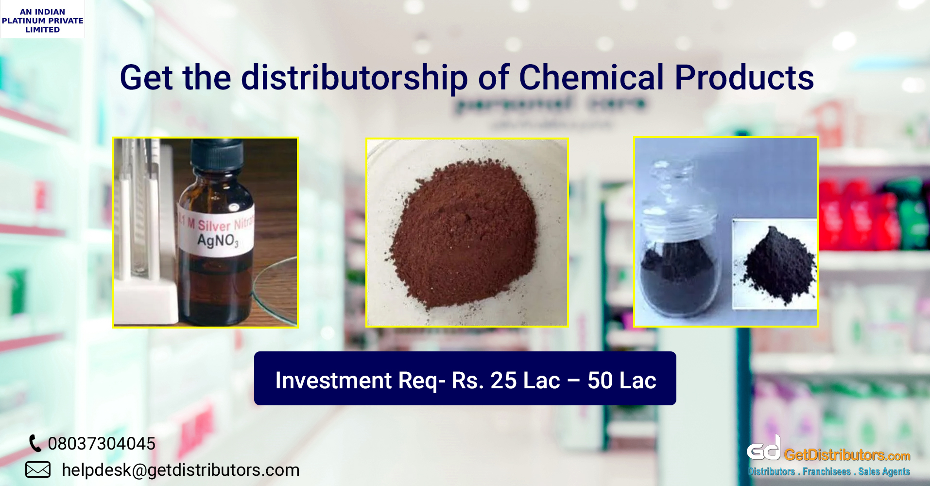 Premium chemicals for distribution