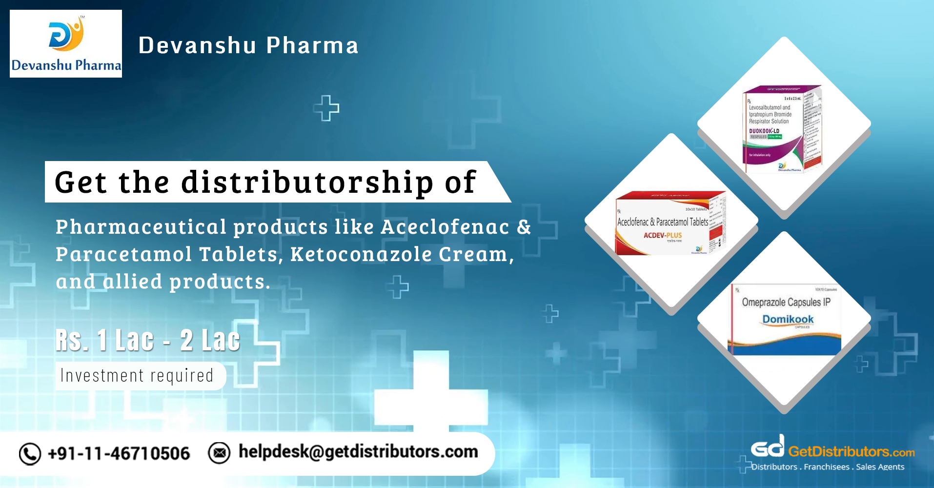 Offering a wide range of pharmaceutical products for distribution