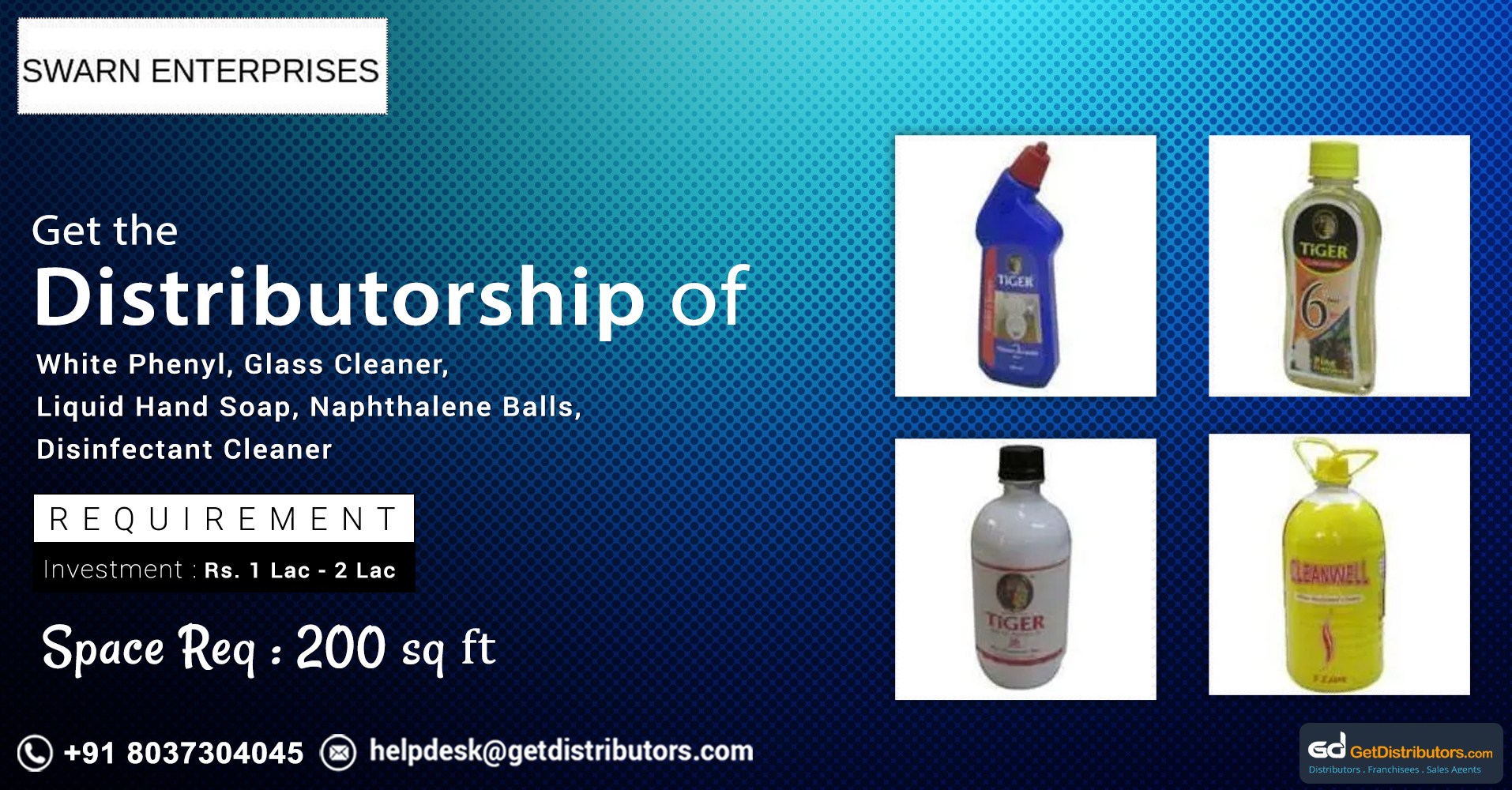 Wide range of cleaners and housekeeping supplies for distribution